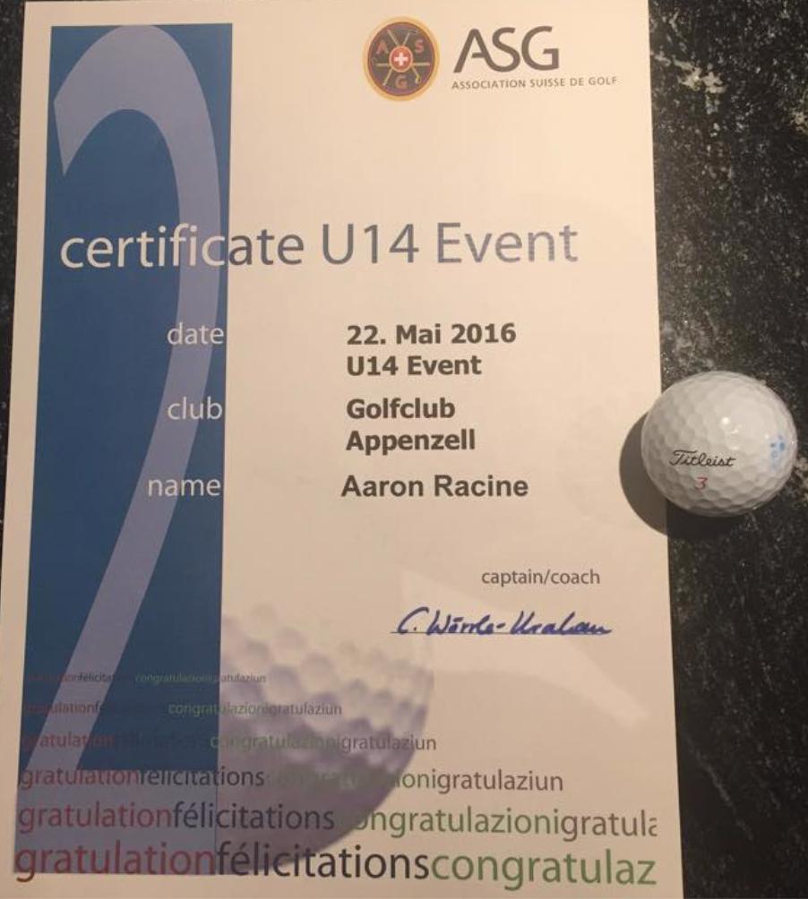 2. Rang U14 Appenzell
