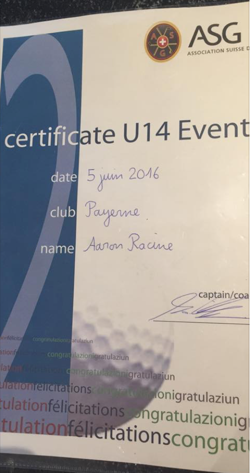 2. Rang U14 Payerne